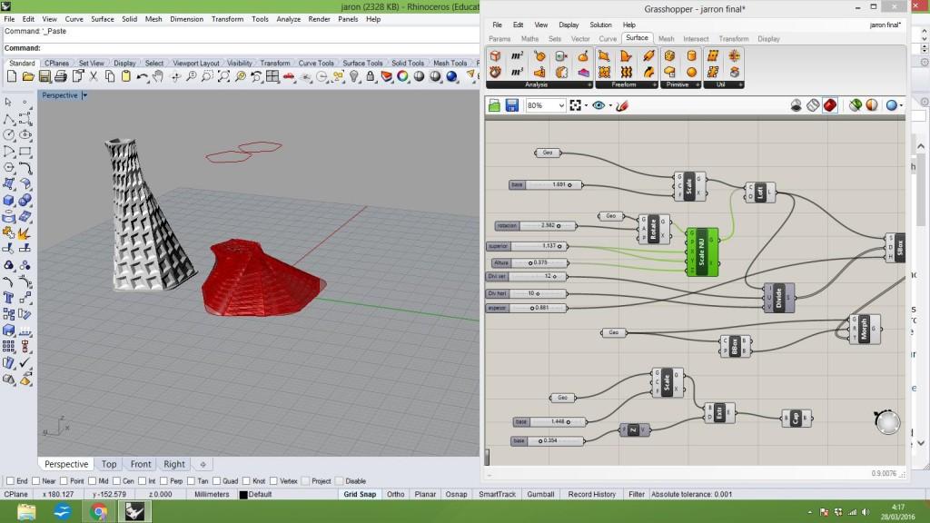 Diseño Paramétrico con Grasshopper de Rhino